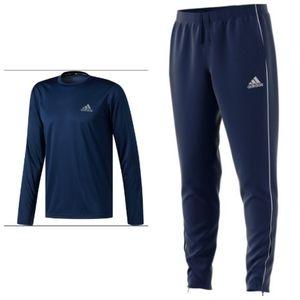 Adidas Core 18 training set Top/bottom blue&white